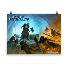 Clash of Frost and Light – Battle Scene Poster (Oath of the Frozen King)