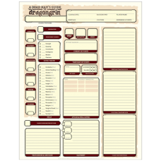 A Dead Man's Guide to Dragongrin – Character Sheets
