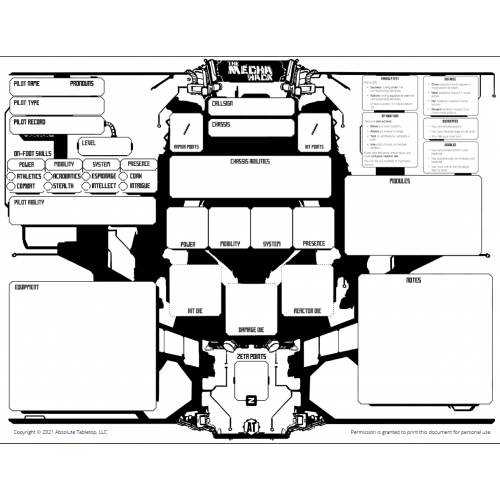 The Mecha Hack Character Sheet